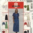 McCall's Sewing Pattern 9198 Misses Size 8-10-12 Easy Raised Waist A-Line Dress Short Jacket