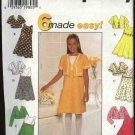 Simplicity Sewing Pattern 7463 Girls size 7-10 Easy Sleeveless Raised Waist Dress Jacket