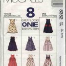 McCall's Sewing Pattern 8352 M8352 Girls Size 4-6 Easy Full Skirt Jumper Sundress