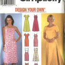 Simplicity Sewing Pattern 7072 Misses Size 14-20 Summer Straight Flared Dresses Sundress