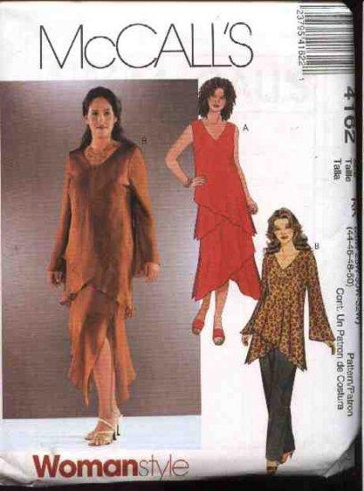 McCall's Sewing Pattern 4162 Womans Plus Size 18W-24W Asymmetrical Hem  Skirt Top Pants