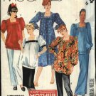 McCall's Sewing Pattern 2844 Misses Size 12 Maternity Dress Top Long Short Skirt Pants