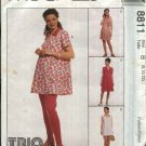 McCall's Sewing Pattern 8811 Misses Size 8-12 Maternity Pullover Top Rompers Leggings