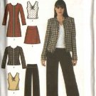 Simplicity Sewing Pattern 4369 Misses Size 16-24 Easy Wardrobe Skirt Pants Top Coat Jacket