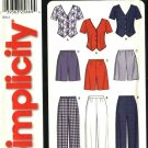 Simplicity Sewing Pattern 7154 Misses Size 8-18 Easy Button Front Top Blouse Long Pants Shorts