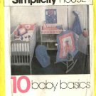Simplicity Sewing Pattern 125 Baby Infant Room Accessories Diaper Stacker Crib Bumpers Toys