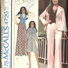 Retro McCall's Sewing Pattern 4729 Misses Size 12 Marlo Thomas Unlined Jacket Vest Skirt Pants Suit