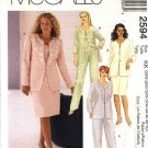 McCall's Sewing Pattern 2594 M2594 Womans Plus Size 18W-24W Jacket Top Pants Skirt Suit Pantsuit