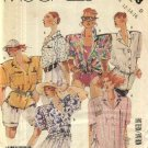 McCall's Sewing Pattern 3128 Misses Sizes 10-12-14 Easy Button Front Short Sleeve Big Shirt