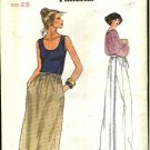 Vogue Sewing Pattern 7117 Misses' Size 10 Easy Back Wrap Long Short Skirts
