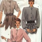 Vogue Sewing Pattern 7893 Misses Size 12-16 Easy Classic Button Front Blouses Stand Up Collar