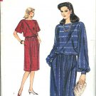 Vogue Sewing Pattern 8562 Misses Size 8-12 Easy Dolman Top A-Line Wrap Skirt Two-Piece Dress