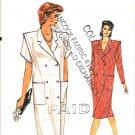 Vogue Sewing Pattern 8673 Misses Size 6 Easy Button Front Double Breasted Coat Dress