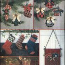 Vogue Craft Sewing Pattern 9083 Christmas Tree Skirt Stockings Ornaments Card Holders