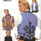 Vogue Sewing Pattern 9677 Misses Size 6-10 Easy Creative Vests Trim Variations