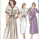 Vogue Sewing Pattern 9872 Misses/Half Size 14-18 Button Front Bodice Full Straight Skirt Dress