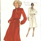 Vogue Sewing Pattern 9980 Misses Size 12 Easy Pullover Long Sleeve Dress Top Gathered Skirt