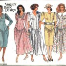 Vogue Sewing Pattern 1898 Misses Size 14-18 Basic Dress Straight Full Skirt Button Front Bodice