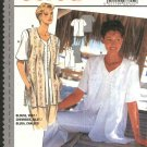 Burda Sewing Pattern 3745 Misses Size 8-18 Short Sleeve Button Front Blouse Vest