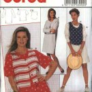 Burda Sewing Pattern 3992 Misses Size 10-20 Pullover Knit Top Dress Button Front Vest