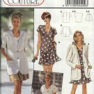 Burda Sewing Pattern 4499 Misses Size 10-20 Wardrobe T-Shirt button Front Jacket Split-Skirt