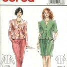 Burda Sewing Pattern 4836 Misses Size 8-18 Princess Seam Button Front Jacket Pants Shorts