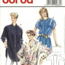 Burda Sewing Pattern 4865 Misses Size 12-22 Button Front Shirt Blouse Sleeve Pocket Options