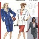 Burda Sewing Pattern 5366 Misses Size 10-18 Lined Straight Skirt Button Front Jacket Sleeve Options
