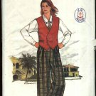 Butterick Sewing Pattern 3102 Misses Size 10 J G Hook Wardrobe Vest Shirt Culottes Skirt