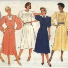 Butterick Sewing Pattern 3412 Misses Size 12 Classic Tucked Front Flared Skirt Dress