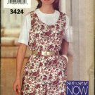 Butterick  Sewing Pattern 3424 Misses Size 12-16 Button Front Jumpsuit Romper Pullover Top