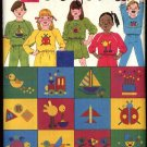 Butterick Colorforms Sewing Pattern 3556 Children's size 2-6 Knit Top Skirt Pants Transfers