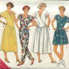 Butterick Sewing Pattern 3699 Misses Size 12-16 Easy Classic Dropped Waist Knit Dress Jumpsuit