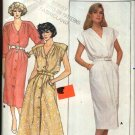 Butterick Sewing Pattern 3810 Misses' Size 14 Straight Flared Button Front Dress Cap Long Sleeves