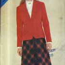 Butterick  Sewing Pattern 3851 Misses Size 8-12 Easy Lined Jacket A-Line Bias Skirt Suit