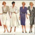 Butterick Sewing Pattern 4193 B4193 Misses Size 8-12 Classic Straight Flared Long Sleeve Dress