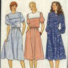 Butterick Sewing Pattern 4271 Misses Size 12 Pullover Sailor Collar Gathered Skirt Dress Belt