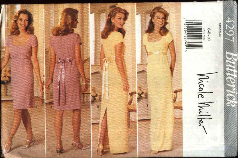 Butterick Sewing Pattern 4297 Misses Size 6-10 Lined Formal Long Short Dress Evening Gown