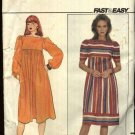 Butterick Sewing Pattern 4440 Misses Size 12-16 Pullover Flared Loose Fitting Dress Maternity