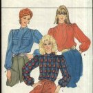Butterick Sewing Pattern 4551 Misses Size 12-16 Classic Long Sleeve Standing Collar Blouse