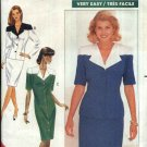 Butterick Sewing Pattern 4557 Misses Size 6-10 Easy Button Front Contrast Dress Top Straight Skirt
