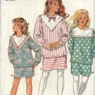 Butterick Sewing Pattern 4581 Girls Size 7-10 Easy Long Sleeve Dropped Waist Straight Skirt Dress