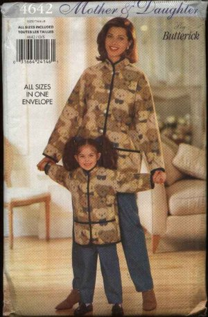 Butterick Sewing Pattern 4642 Misses Size 6-18 Girls 2-6X Mother Daughter Jacket  Pants