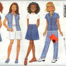 Butterick Sewing Pattern 4903 Girls' Size 12-14  Easy Wardrobe Dress Shirt Skirt Shorts Pants