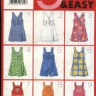 Butterick Sewing Pattern 4964 Girls' Size 12-14  Easy Skort Jumper Bodice Options Zipper Back