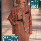 Butterick See & Sew Sewing Pattern 5035 Misses Size 18-22 Easy Jacket Top  Skirt Suit