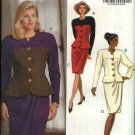 Butterick Sewing Pattern 5140 Misses Size 6-10 Easy Button Front Contrast Top Mock Sarong Skirt