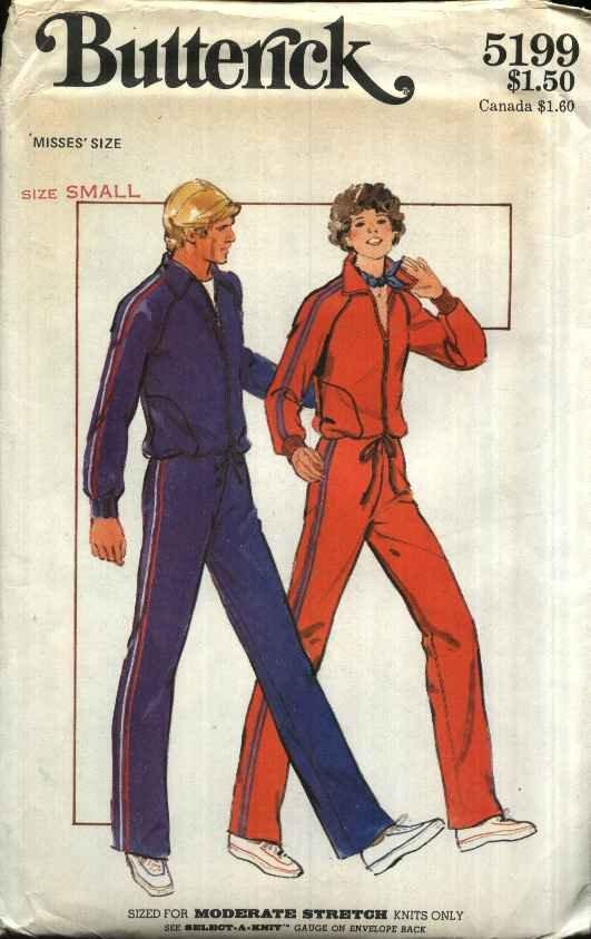 Butterick Sewing Pattern 5199 Misses Size 8-10 Zipper Front Knit Workout Jacket Top Pants
