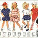 Butterick Sewing Pattern 5343 Girls Size 5-6X Easy Knit Wardrobe Dress Top Skirt Shorts Leggings Cap