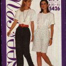 Butterick See & Sew Sewing Pattern 5426 Misses Size 6-22 Easy Elastic Waist Shorts Pants